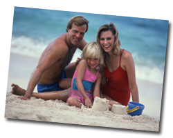 family on the beach cape may nj